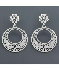 Kissing Dove Sterling Silver Earrings (Mexico)