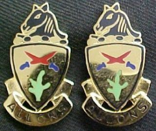 11th Armored Cavalry Distinctive Unit Insignia   Pair