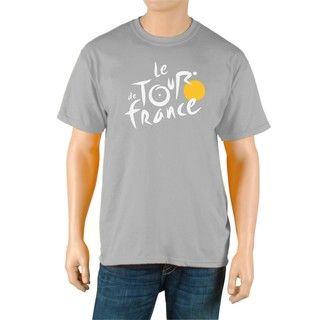 Le Tour de France Mens Logo Grey Official T Shirt
