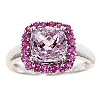 yach 14k Gold Kunzite and Pink Sapphire Ring