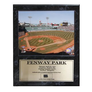 Fenway Park Boston Red Sox Game Used Plaque