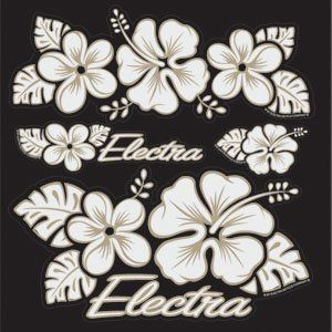 Electra Bicycle Sticker Set (Hawaii Flower) Sports