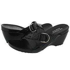 Franco Sarto Sage Black Patent Sandals