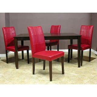 Warehouse of Tiffany Evellen Red Dinning Set (Set of 5)
