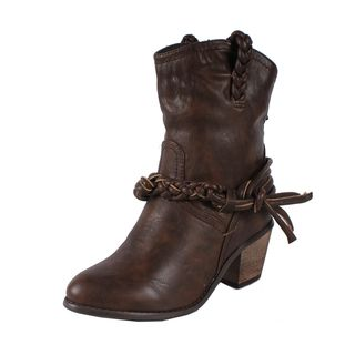 Liliana by Beston Womens Couture 4 Brown Cowgirl Boots