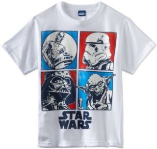 Star Wars Boys 8 20 Star Profile Shirt Clothing