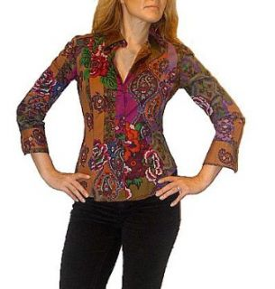 Etro New Paisley Print Blouse Shirt. S Clothing