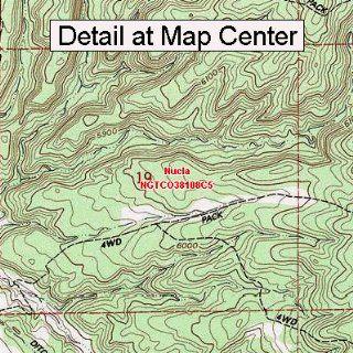 USGS Topographic Quadrangle Map   Nucla, Colorado (Folded