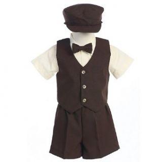 Lito Boys Brown Vest Shorts Easter Ring Bearer Formal Wear
