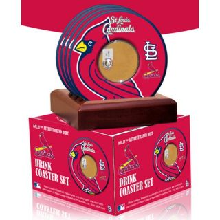 Steiner Sports St. Louis Cardinals Coasters w/ Game Used Dirt (Set of