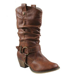Refresh Womens Wild Tan Cowboy Boots
