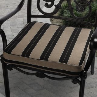 Clara 19 inch Outdoor Brown/ Black Stripe Cushion Made with Sunbrella