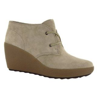 Clarks Nice Melody Grey Leather Womens Boots Shoes