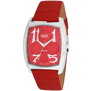 Burgi Womens Heart O Diamonds Swiss Diamond Strap Watch