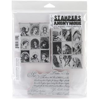 Tim Holtz Cling Rubber Stamp Set Classics #9