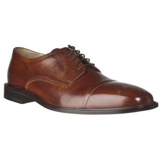 Murphy by Johnston & Murphy Mens Leather Cover Toe Oxfords