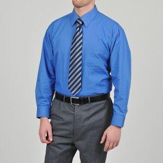 Alexander Julian Colours Mens Aura Dress Shirt and Striped Tie Set