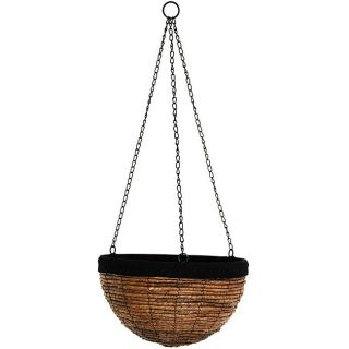 Banana Leaf 20 inch Woven Hanging Flower Pot (China)