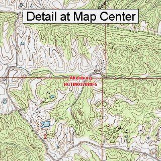 USGS Topographic Quadrangle Map   Altenburg, Missouri