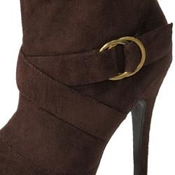 Glaze by Adi Womens Slouchy Faux Suede Tall Boots