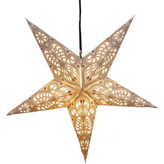 White Swan Star Recycled Paper Lamp (India)