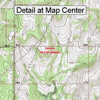 USGS Topographic Quadrangle Map   Terlton, Oklahoma