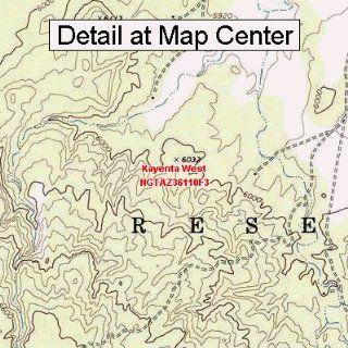 USGS Topographic Quadrangle Map   Kayenta West, Arizona