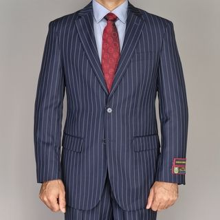 Giorgio Fiorelli Mens Navy Blue Pinstripe 2 button Suit
