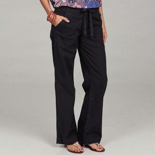 Calvin Klein Womens French Navy Linen Drawstring Pants