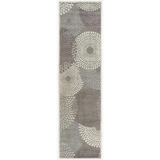Graphic Illusions Circular Grey Rug (23 x 8)