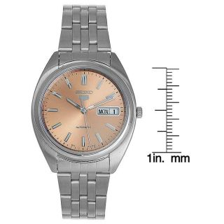 Seiko Mens Automatic Stainless Steel Copper Dial Watch