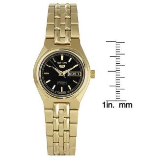 Seiko Womens Automatic Stainless Steel Black Dial Watch