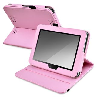BasAcc Pink Leather Swivel Case for  Kindle Fire HD 7 inch
