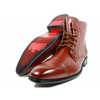 Mens Delli Aldo Brown Dress/Casual Wing Tip Ankle High Oxford Boots