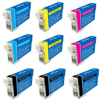 Epson T127 Remanufactured Black / Colors Ink Cartridges (Pack of 9