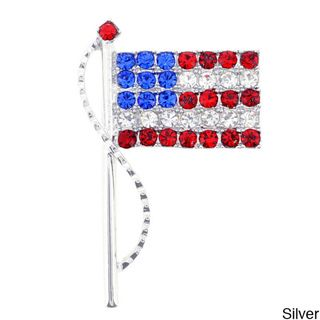 American Flag Pin Swarovski Crystal Pin Brooch