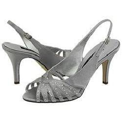 Nina Fortune Royal Silver Satin Sandals
