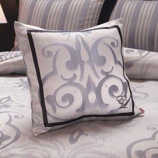 English Laundry Bury Metallic Silver Decorative Pillow