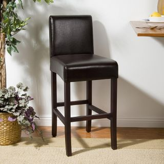 York Brown Leather 26 inch Bar Stool