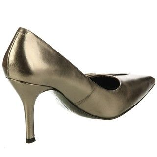 Nine West Womens Frontall Leather Heels