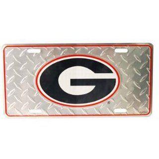 Georgia Bulldogs Auto License Plate (Diamond Plate