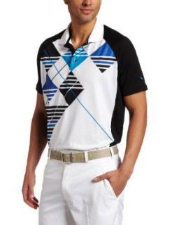Puma Golf Mens Golf Argyle Tech Polo Short Sleeve Polo