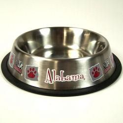 Alabama Crimson Tide Stainless Steel Pet Dish Bowl