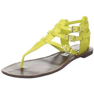 Steve Madden Womens Saahara Thong Sandal,Yellow Lizard,9 M US Shoes