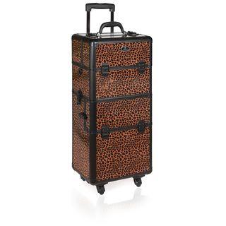 Shany Leopard Print Wheeled Trolley Case