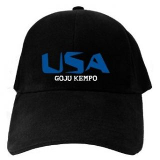Caps Black Usa Goju Kempo  Martial Arts Clothing