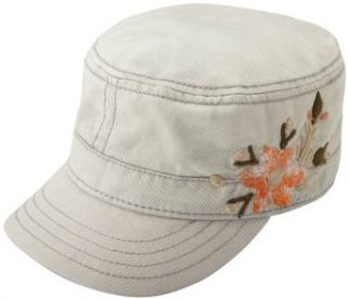 Lucky Brand Womens Chilli Flower Military Cap, Cream, One