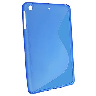 BasAcc Blue S Shape TPU Rubber Case for Apple iPad Mini