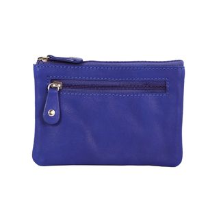 Blue Leather Multi purpose Keychain Wallet