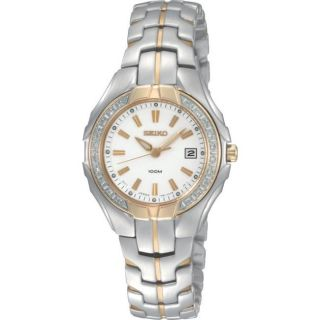 Seiko Womens Diamond Two tone Steel Quartz Watch